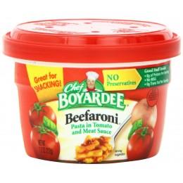 Chef Boyardee Beefaroni Microwaveable Bowl, 7.5 oz Each, 12 Total