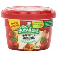 Chef Boyardee Spaghetti with Meatballs Microwaveable Bowl, 12 Total