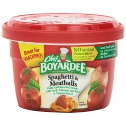 Chef Boyardee Spaghetti with Meatballs Microwaveable Bowl, 12 Total