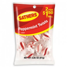 Farley's & Sathers Peppermint Twists, 2.85 oz Each, 12 Bags Total