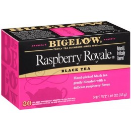 Bigelow Raspberry Royal Tea Bag, 6 Boxes of 28 Tea Bags, 168 Total