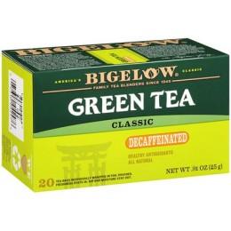 Bigelow Decaf Green Tea Bag, 6 Boxes of 28 Tea Bags, 168 Total