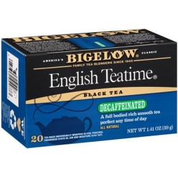 Bigelow Decaf English Teatime Tea Bag, 6 Boxes of 28 Tea Bags, 168 Total