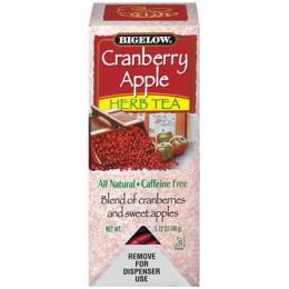 Bigelow Cranberry Apple Tea Bag, 6 Boxes of 28 Tea Bags, 168 Total