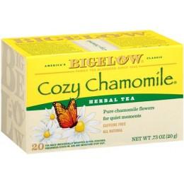 Bigelow Cozy Chamomlile Tea Bag, 6 Boxes of 28 Tea Bags, 168 Total