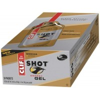 Clif Gel Shot Mocha with 50 mg Caffeine 1.2 oz Each Shot, 192 Shots Total