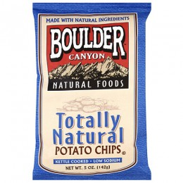 Boulder Canyon Totally Natural Kettle Chips, 1.5 oz Each, 55 Total