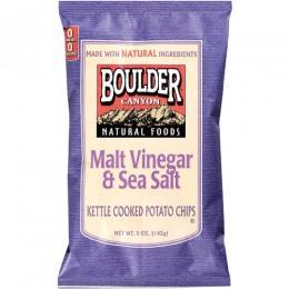 Boulder Canyon Malt Vinegar & Sea Salt Kettle Chips, 55 Bags Total