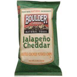 Boulder Canyon Jalapeno Cheddar Kettle Chips, 1.5 oz ea. 55 Bags Total