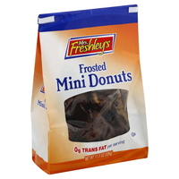 Mrs Freshely's Braod Street Bakery Chocolate Frosted Mini Donuts 3.3 oz Each Bag, 72 Bags Total