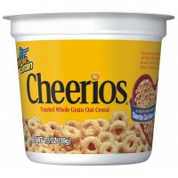 Cheerios Cereal Cup, 1.38 oz Each, 10 Boxes of 6 Cups, 60 Total