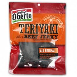 Oberto Teriyaki Beef Jerky, 3.25 oz Each, 8 Bags Total