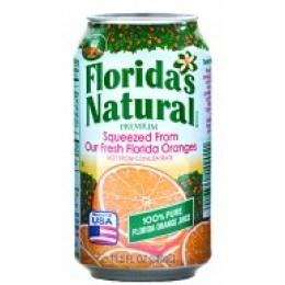Florida 14901 NFC Cans 100% Orange Juice, 11.5 oz Each, 24 Total