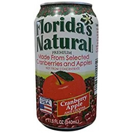 Florida's Natural Cranberry Apple Cocktail, 11.5 oz Each, 24 Total