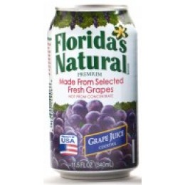 Florida's Natural Grape Cocktail, 11.5 oz Each, 24 Total