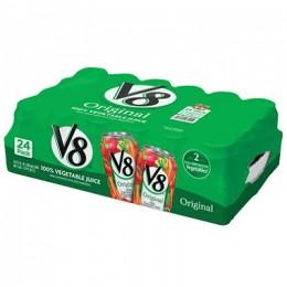 Campbells V8 Juice Vegetable Can Bulk 11.5 oz Each Can, 24 Cans Total