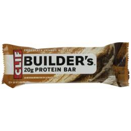 Clif Builder's Bar Chocolate Peanut Butter, 2.4 oz Each, 12 Boxes