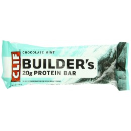 Clif Builder's Bar Chocolate Mint, 2.4 oz Each, 12 Boxes of 12 Bars