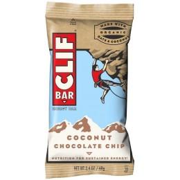 Clif Chocolate Chip Coconut Bar 2.4 oz Each Bar, 192 Bars Total