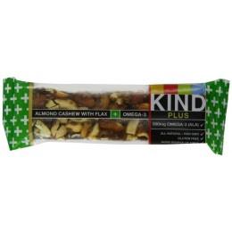 KIND PLUS Almond Cashew/Omega3 Gluten Free Bars 1.4 oz ea 72 Total
