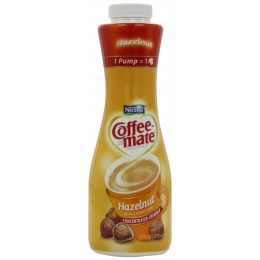 Coffee Mate Hazelnut Liquid Creamer Pump Bottle 625 ml. ea 3 Bottles