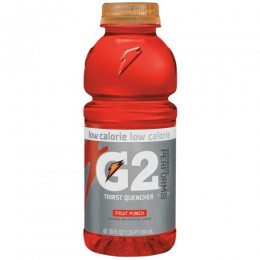 Gatorade G2 Fruit Punch, 20 oz Each, 24 Bottles Total
