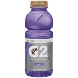 Gatorade G2 Grape, 20 oz Each, 24 Bottles Total