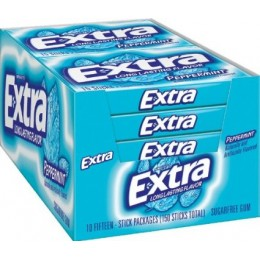 Extra Gum Peppermint Sugar Free 6 Sticks Per Pack, 280 Packs Total