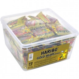 Haribo Gummy Bears Gold Mini Tubs, 25.4 oz Each, 8 Total