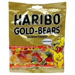 Haribo Gummies Gold Bears, 5 oz Each, 12 Boxes Total