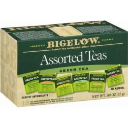 Bigelow Assorted Green Tea Bags, 6 Boxes of 64 Tea Bags, 384 Total