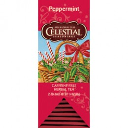 Celestial Seasonings Peppermint Tea 25 Tea Bags - 6 Packs Total