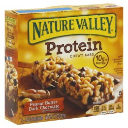General Mills 31849 Nature Valley Peanut Butter Dark Chocolate Protein Bar, 1.42 oz Each Bar, 128 Bars Total