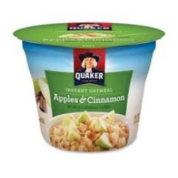 Quaker Instant Oatmeal Cup Apple Cinnamon, 1.51oz/24 Total