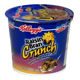 Raisin Bran Cereal Cups, 2.8 oz Each, 10 Boxes of 6 Cups, 60 Total
