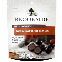 Brookside Chocolate Dark Raspberry Peach 7 oz. Bag, 12 Bags Total