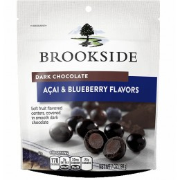 Brookside Dark Chocolate Acai Pouch, 7 oz Each, 12 Pouches Total