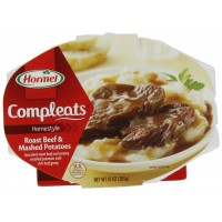 Hormel Compleats Roast Beef & Mashed Potatoes, 10 oz Each, 6 Total