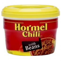 Hormel Chili with Beans Microwaveable Bowl 7.5oz 12/CS