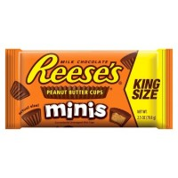 Reese's Peanut Butter Cup Mini King Size 2.5 oz Bag, 144 Total Bags
