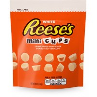 Reese's Peanut Butter Cup Minis Whiet Pouch 8 oz. Bag, 12 Bags Total