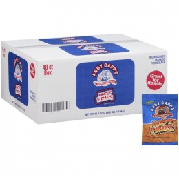 Andy Capp Hot Fries, .85 oz Each, 72 Bags Total