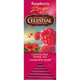 Celestial Seasonings Raspberry Zinger Tea 25 Tea Bags per Pack