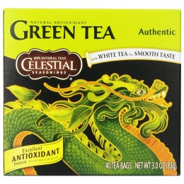 Celestial Seasonings Green Tea Assortment 25 Count Each Box, 6 Boxes Total