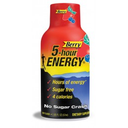 5 Hour Energy Berry, 18 Boxes of 12 Energy Shots, 216 Total