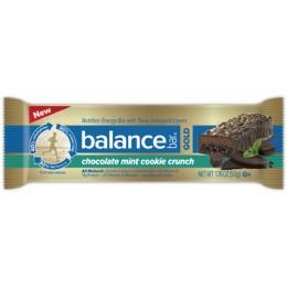 Balance Bar Gold Chocolate Mint Cookie Crunch 1.76oz Each Bar, 48 Bars Total