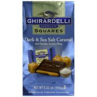 Ghirardelli Dark and Caramel Sea Salt Chocolate Squares, 5.32 oz Each, 6 Total