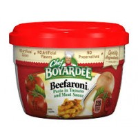 Chef Boyardee 6414404702 Beef-A-Roni Microwave Meal 12/7.5oz Case