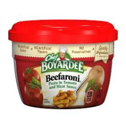 Chef Boyardee 6414404702 Beef-A-Roni Microwave Meal 12/7.5oz Case