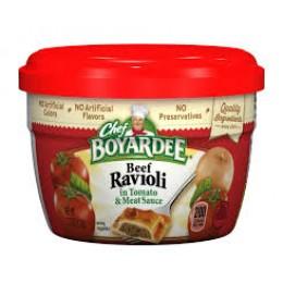 Chef Boyardee 6414404709 Ravioli Beef Microwave Meal 12/7.5oz Case
